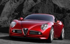 Imagini Masini Alfa Romeo 8C Competizione Poze Masina Rosie