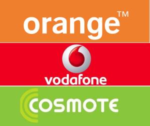 orange vodafone cosmote